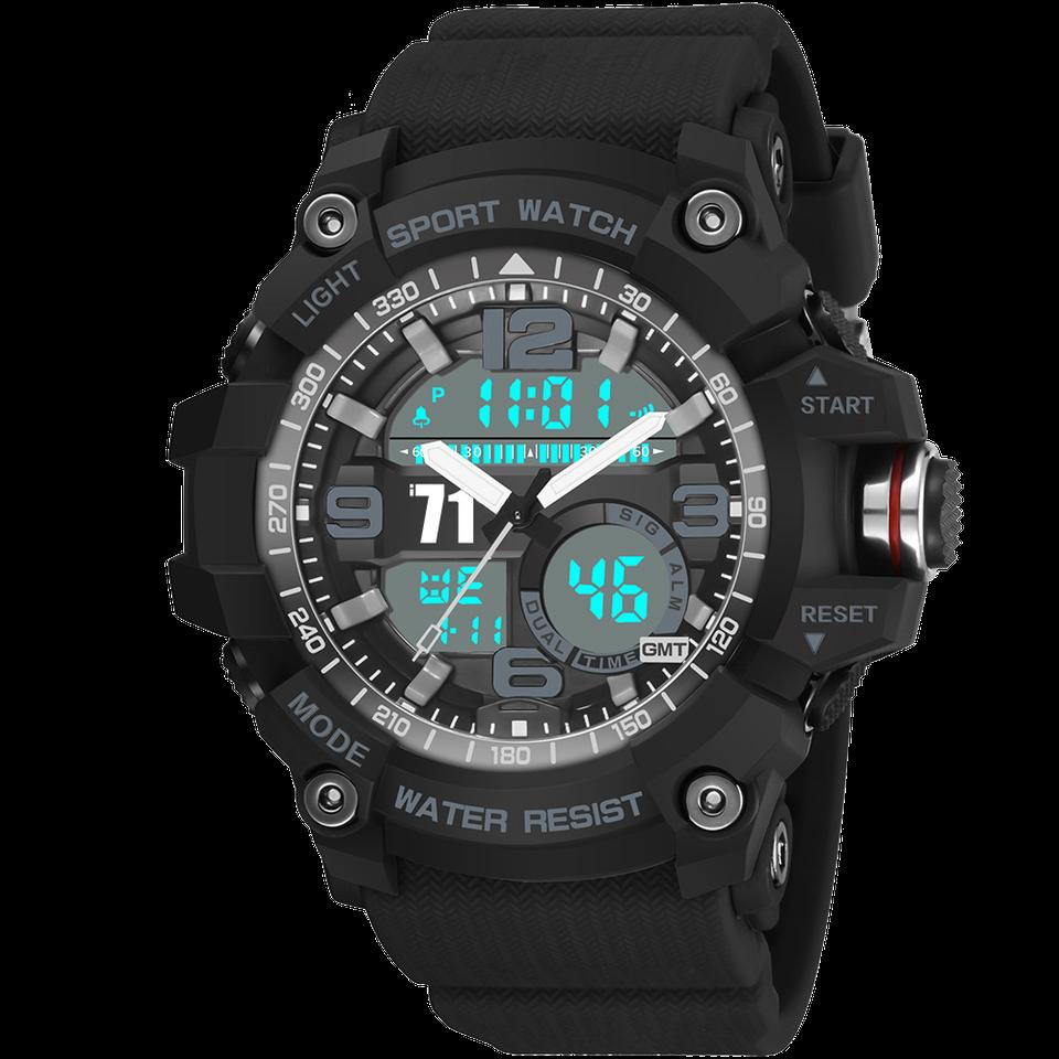 爱奇艺i71手表官方定制 双走时电子运动表男士手表