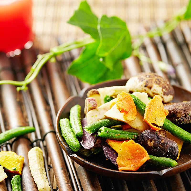 【憨豆熊】综合蔬菜干108g*2 香菇脆黄秋葵干即食脱水果蔬脆片干