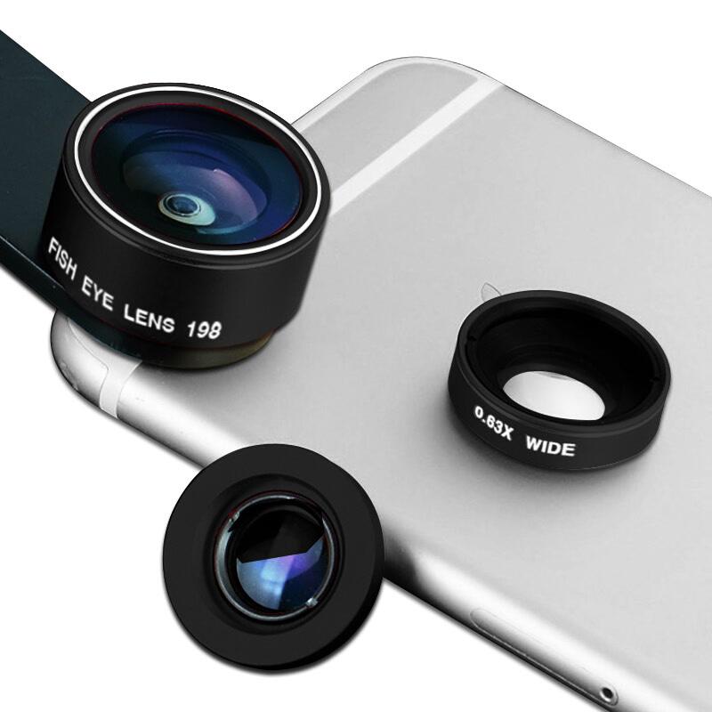 【付邮即享】卓谷 三合一手机镜头 鱼眼广角微距手机拍照镜头